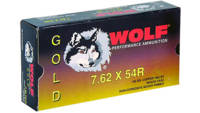 Wolf Ammo Gold 7.62x54mm Russian FMJ 150 Grain 20