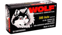 Wolf Ammo 9mm FMJ 115 Grain 800 Rounds [919TINS]