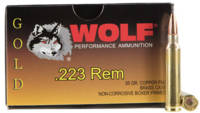 Wolf Ammo Gold 223 Remington (5.56 NATO) 55 Grain