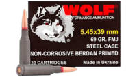 Wolf Ammo Bulk Pack 5.45x39mm FMJ 69 Grain Case Lo