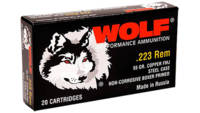 Wolf Ammo HP 223 Remington HP 55 Grain 500 Rounds