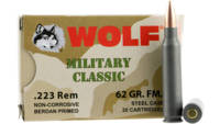 Wolf Ammo Military Classic 223 Remington FMJ 62 Gr