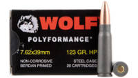 Wolf Ammo AK-47 7.62x39mm HP 123 Grain 1000 Rounds