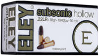 Eley Rimfire Ammo Subsonic Hollow .22 Long Rifle (