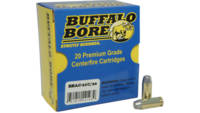 Buffalo Bore Ammo 10mm Hard Cast 220 Grain 20 Roun