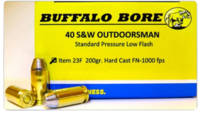 Buffalo Bore Ammo 40 S&W 200 Grain Hard Cast F
