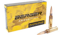 Berger Ammo Tactical 6.5 Creedmoor 130 Grain Hybri
