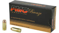 PMC Ammo Bronze 40 S&W 165 Grain FMJ 50 Rounds [40