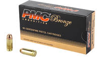 PMC Ammo Bronze 40 S&W 180 Grain FMJ Flat Point 50