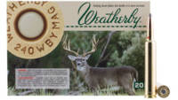 Weatherby Ammo 240 Weatherby Magnum Nosler Partiti