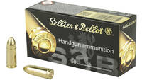 Sellier & Bellot Ammo 9mm 115 Grain FMJ 50 Rou