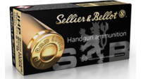 Sellier & Bellot Ammo9mm 124 Grain JHP 50 Rounds [