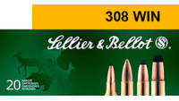 Sellier & Bellot Ammo 308 Winchester BTHP 168