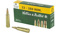 S&b Ammo .22-250 remington 55 Grain jsp 20 Rou