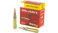 Sellier & Bellot Match 338 Lapua 300 Grain Boa