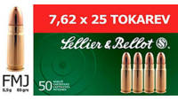 Sellier & Bellot Ammo FMJ 6.8mm Remington SPC