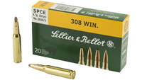 Sellier & Bellot Ammo 308 Winchester SPCE 150