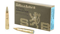 Sellier & Bellot Ammo 300 Blackout 200 Grain FMJ S