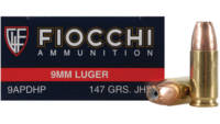 Fiocchi 9mm 147 Grain jhp 50 Rounds [9APDHP]