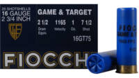 Fiocchi Shotshells Game and Target 16 Gauge 2.75in