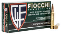 Fiocchi Ammo Shooting Dynamics Rifle 7mm Magnum 13