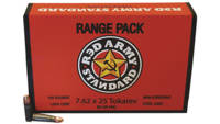 Red Army Ammo 7.62x25mm Tokarev 86 Grain FMJ 50 Ro