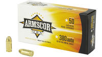 Armscor Ammo 380 ACP 95 Grain FMJ 50 Rounds [FAC38