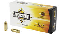 Armscor Ammo 40 S&W 180 Grain FMJ 50 Rounds [F