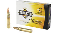 Armscor 223 Rem 62 Grain Full Metal Jacket  20 Rou