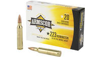 Armscor Ammo 223 Remington 55 Grain FMJ 20 Rounds