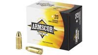 Armscor Ammo 9mm 124 Grain JHP 20 Rounds [AC97N]