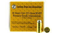 Jamison Ammo Pinnacle 38 Short Colt 125 Grain RNFP