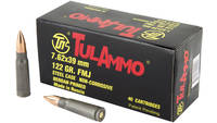 Tula Ammo FMJ AK-47 7.62x39mm 122 Grain 40 Rounds