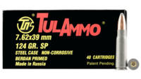 Tula Ammo AK-47 7.62x39mm 154 Grain SP 40 Rounds [