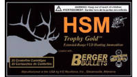 HSM Ammo Trophy Gold 7mm WSM BTHP 168 Grain 20 Rou