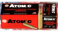 Atomic Ammo 5.56x45 subsonic 112 Grain round nose