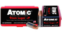 Atomic Ammo Defense 9mm 124 Grain Bonded MHP 50 Ro