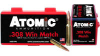 Atomic Ammo .308 win. match 168 Grain nosler bthp