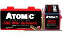 Atomic Ammo Subsonic 308 Winchester 175 Grain SubS