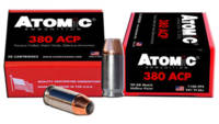 Atomic Ammo .380 acp 90 Grain jhp 20 Rounds [A4539