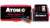 Atomic Ammo Defense 9mm+P 124 Grain Bonded MHP 20