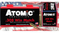 Atomic Ammo .308 win. match 175 Grain sierra tmk 2
