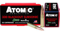 Atomic Ammo .300 aac blackout sub-sonic 220 Grain