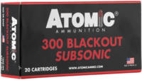Atomic Ammo Subsonic 300 Blackout 260 Grain RN SP