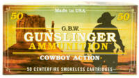 GBW Cartridge Ammo Gunslinger 45 Colt (LC) 250 Gra