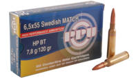 Prvi Partizan PPU Match 6.5x55 Swedish 120 Grain H