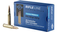 PPU Ammo Metric Rifle 7.5x54 French 139 Grain FMJ