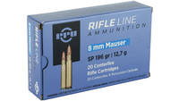 Prvi Partizan Rifle 8MM Mauser 196 Grain Soft Poin