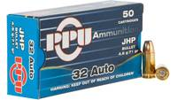 PPU Ammo Defense 32 ACP 71 Grain JHP 50 Rounds [PP