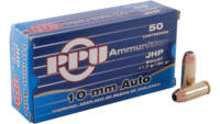 PPU Ammo Defense 10mm Auto 180 Grain JHP 50 Rounds